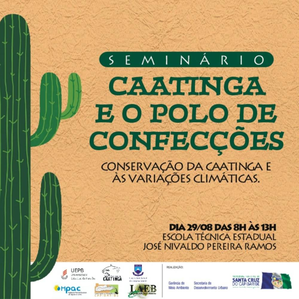 Seminário Caatinga e Polo de Confecções será realizado em Santa Cruz do Capibaribe