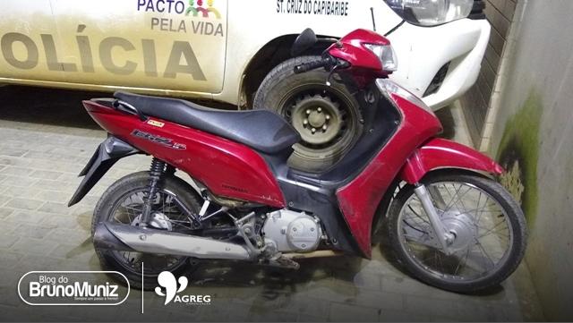 Moto roubada é encontrada em Santa Cruz do Capibaribe