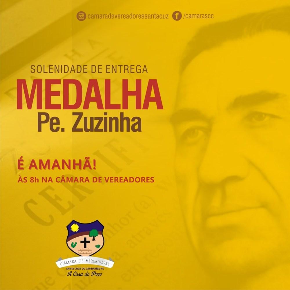 Câmara de Vereadores divulga lista de nomes que serão homenageados com Medalha Padre Zuzinha