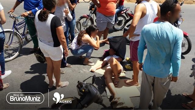 Jovem estudante colide em veículo e fica ferida na PE-160 em Santa Cruz do Capibaribe