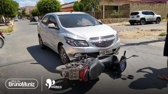 Acidente é registrado no bairro Nova Santa Cruz em Santa Cruz do Capibaribe