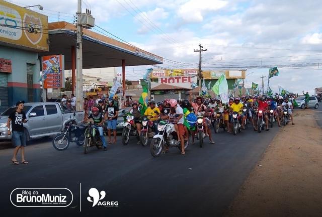 Público presente em carreata anima apoiadores de Bolsonaro em Santa Cruz do Capibaribe