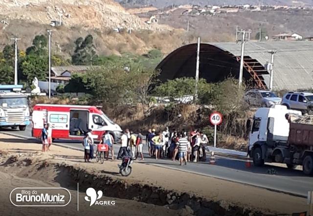 Acidente motociclístico deixa homem ferido no distrito de Vila do Socorro