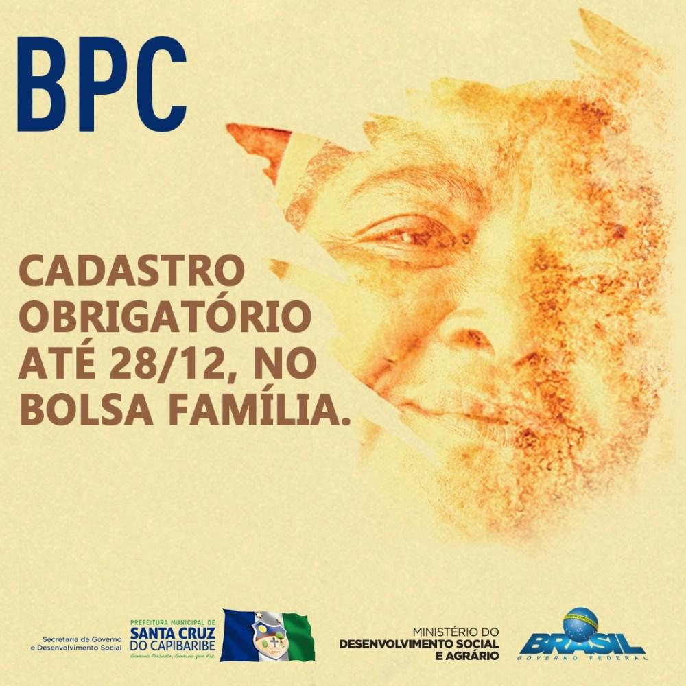 Usuários do BPC devem se cadastrar até 28 de dezembro para continuarem recebendo o benefício