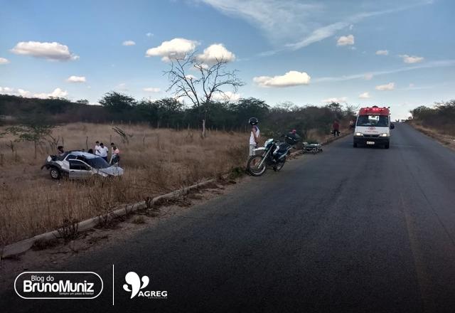 Capotamento é registrado na rodovia PE-160, em Santa Cruz do Capibaribe