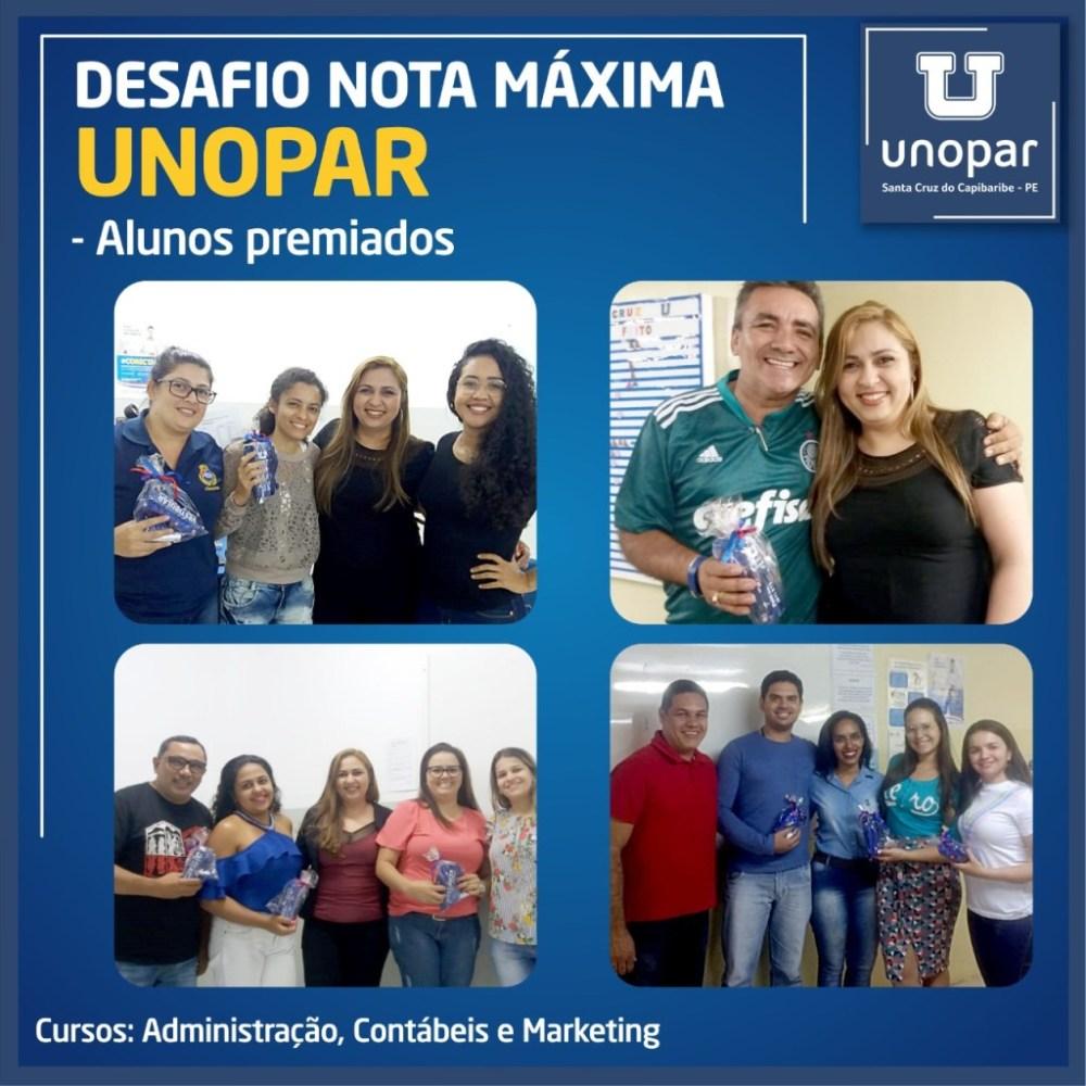 Unopar Santa Cruz realiza premiação dos alunos destaques no Desafio Nota Máxima