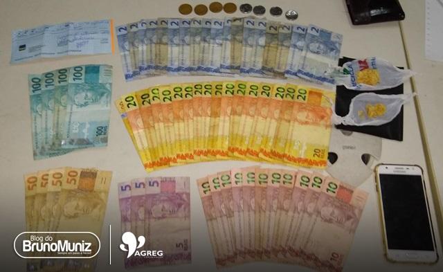 Indivíduos são detidos com entorpecentes e dinheiro na cidade de Toritama
