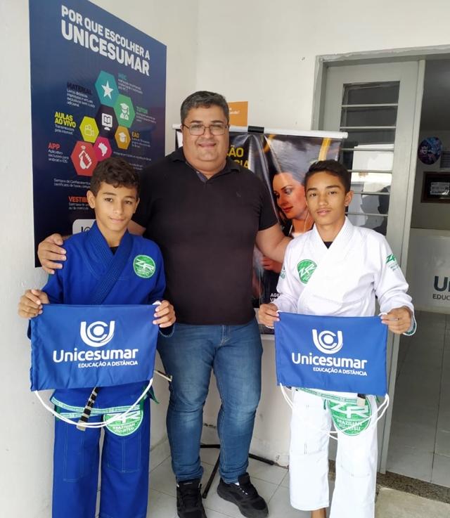 Atletas de Jiu-Jitsu de São Domingos recebem apoio da Unicesumar Polo Santa Cruz do Capibaribe