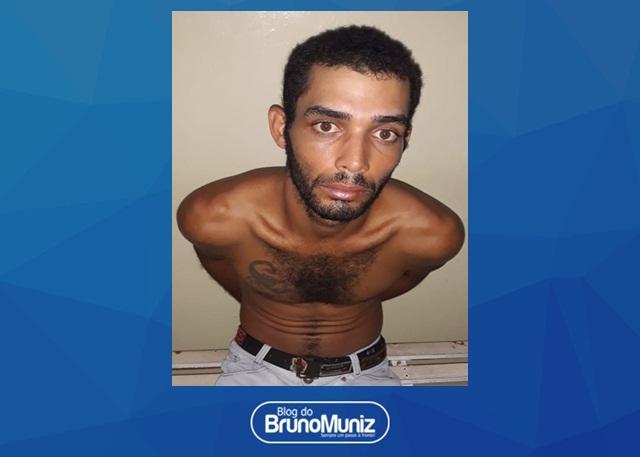Acusado de praticar homicídio é detido em Pão de Açúcar, distrito de Taquaritinga do Norte