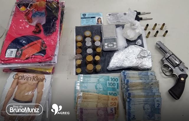 Três pessoas são presas com drogas, dinheiro e veículos roubados em Santa Cruz do Capibaribe