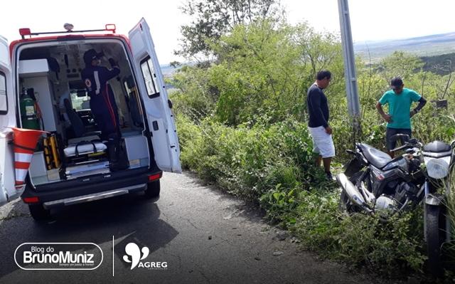 Jovem fica ferido após acidente em Taquaritinga do Norte