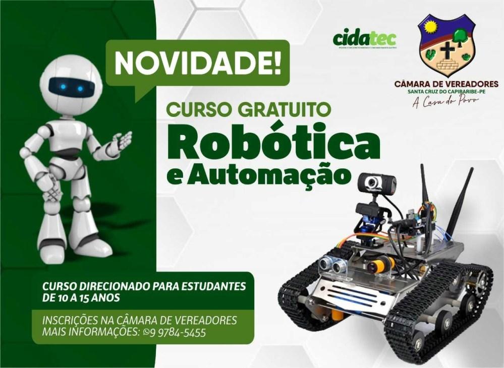 Augusto Maia implanta curso gratuito de Robótica e Automação na Câmara de Vereadores