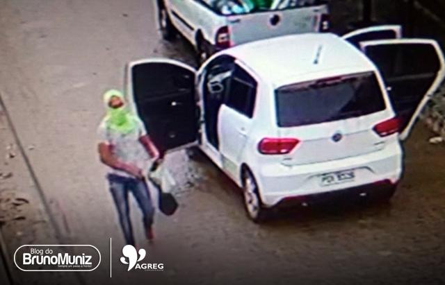 Divulgadas imagens de grupo que assaltou supermercado em Santa Cruz do Capibaribe