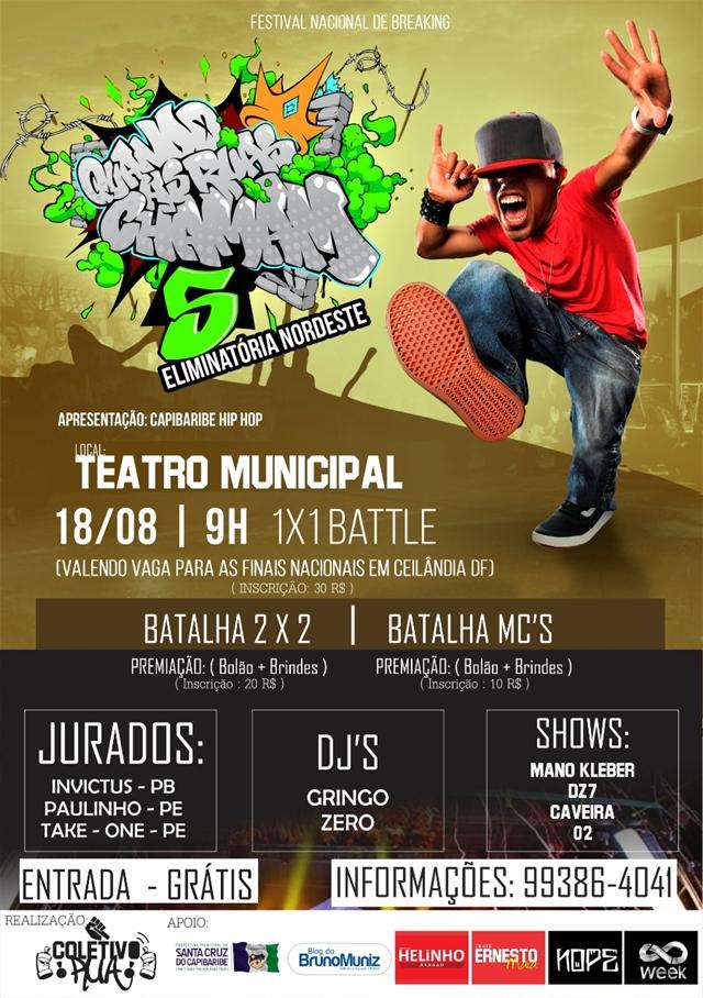 Capibaribe Hip Hop completa 10 anos com evento no domingo, dia 18