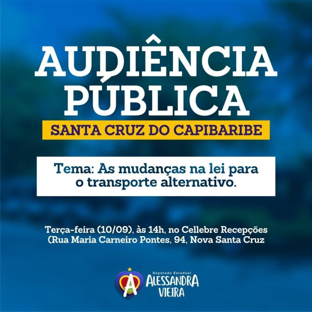 Alessandra Vieira destaca importância de audiência sobre transporte alternativo e convida toyoteiros