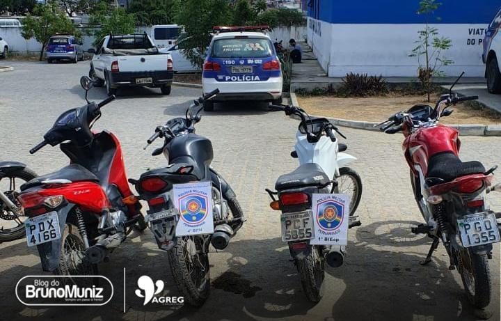 Polícia recupera quatro motocicletas roubadas em Caruaru