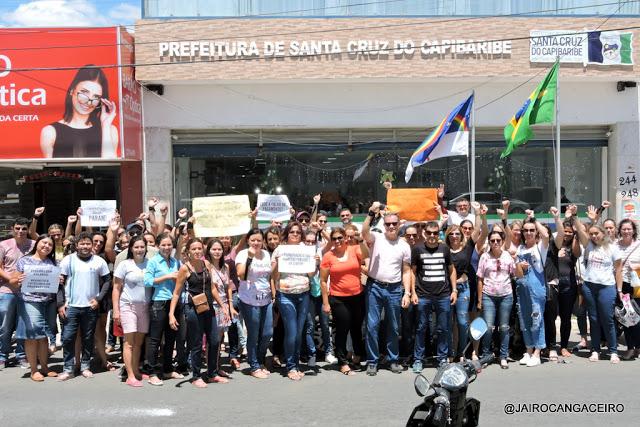 Professores da Rede Municipal de Santa Cruz do Capibaribe afirmam que só retomam com aulas após pagamento de salários