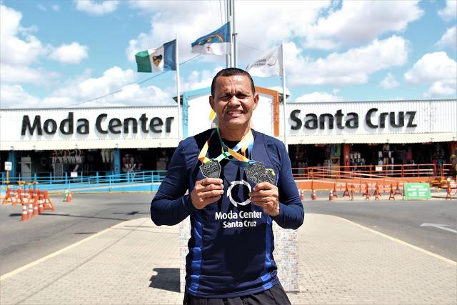 Colaborador do Moda Center conquista medalhas no Campeonato Pernambucano de Atletismo Master
