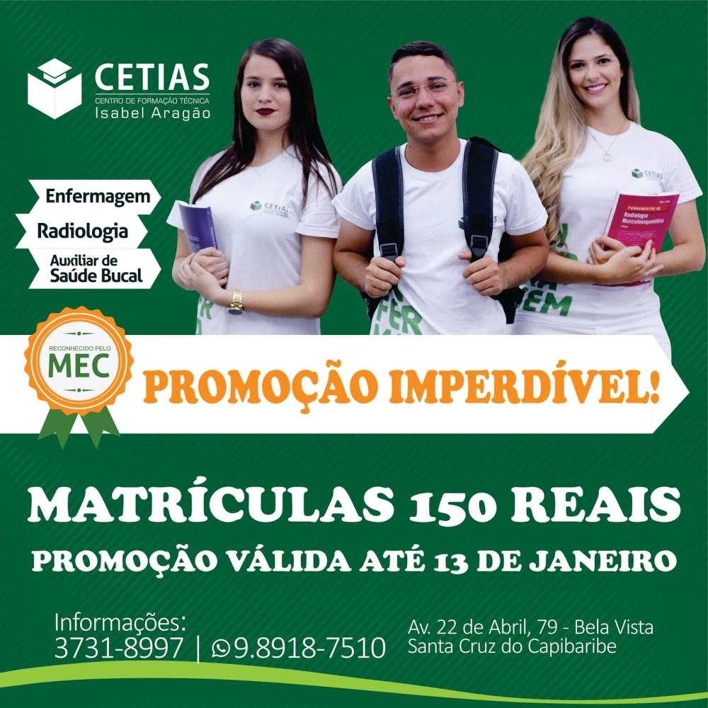 Escola Técnica de Enfermagem e Radiologia lança promoção de 50% na matrícula até o dia 13 de janeiro