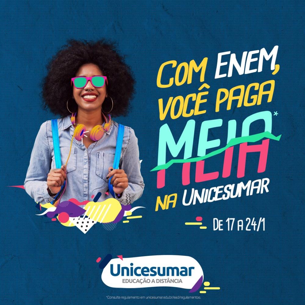 Fera ENEM ganha meia bolsa na Faculdade Unicesumar em Santa Cruz do Capibaribe
