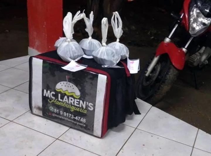 Empresa de delivery doa lanches para funcionários do SAMU, em Santa Cruz do Capibaribe