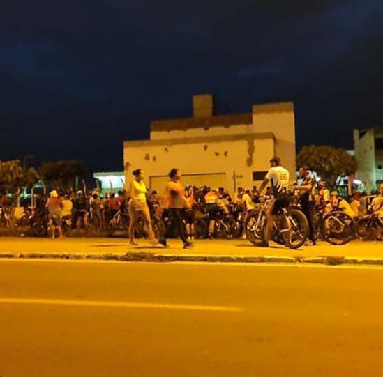 """""""O treino pode, mas aquilo é aglomeração e grande"""", diz secretário de Defesa Social de Santa Cruz sobre grupo de ciclistas"""