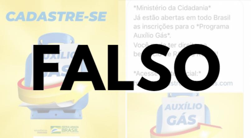 """Mensagem que promete cadastro ao """"auxílio gás"""" é falsa; veja como se proteger"""