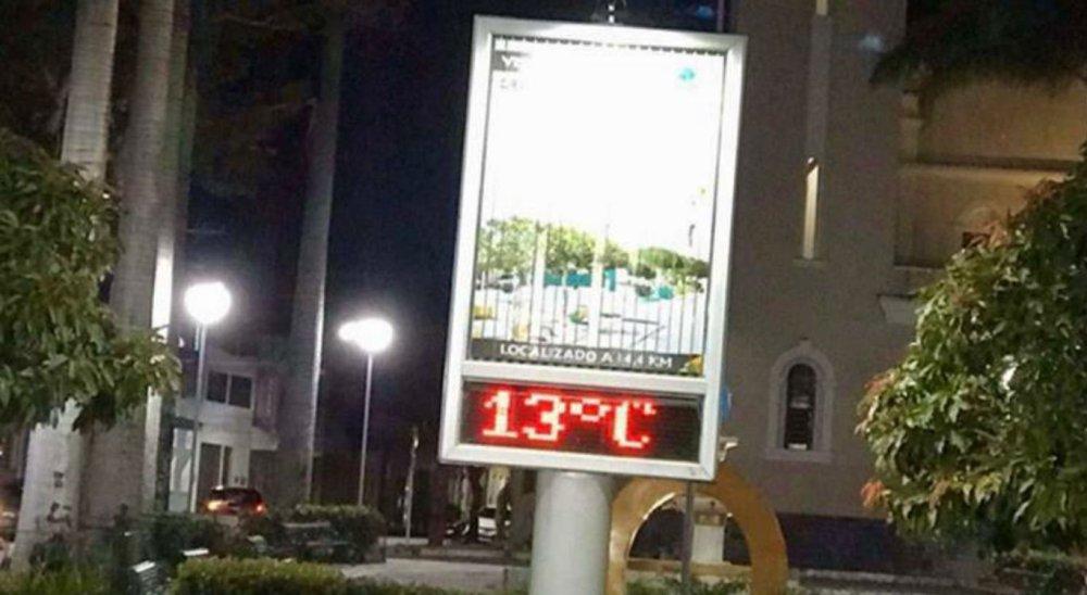 Termômetros registram 13°C em Taquaritinga do Norte, no Agreste