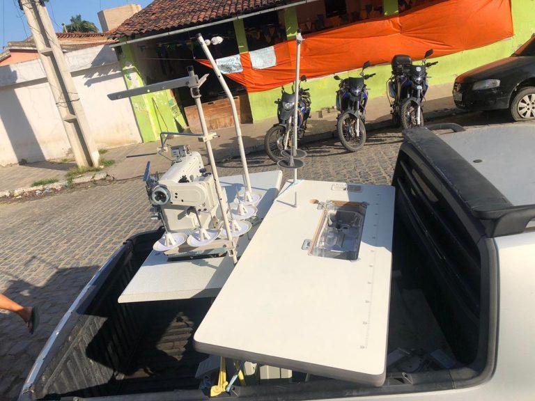 Polícia Militar recupera máquinas de costura roubadas em Santa Cruz do Capibaribe