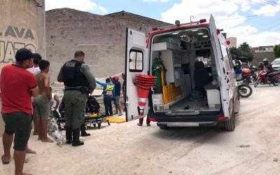 Menor tem perna dilacerada em acidente no município de Santa Cruz do Capibaribe