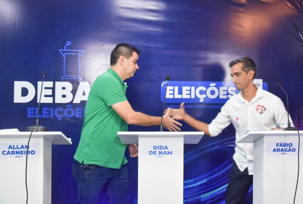 Sem Dida, Allan Carneiro e Fábio Aragão debatem duro no primeiro encontro das Eleições 2020