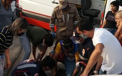 Motociclistas se envolvem em acidente na avenida 29 de Dezembro em Santa Cruz do Capibaribe