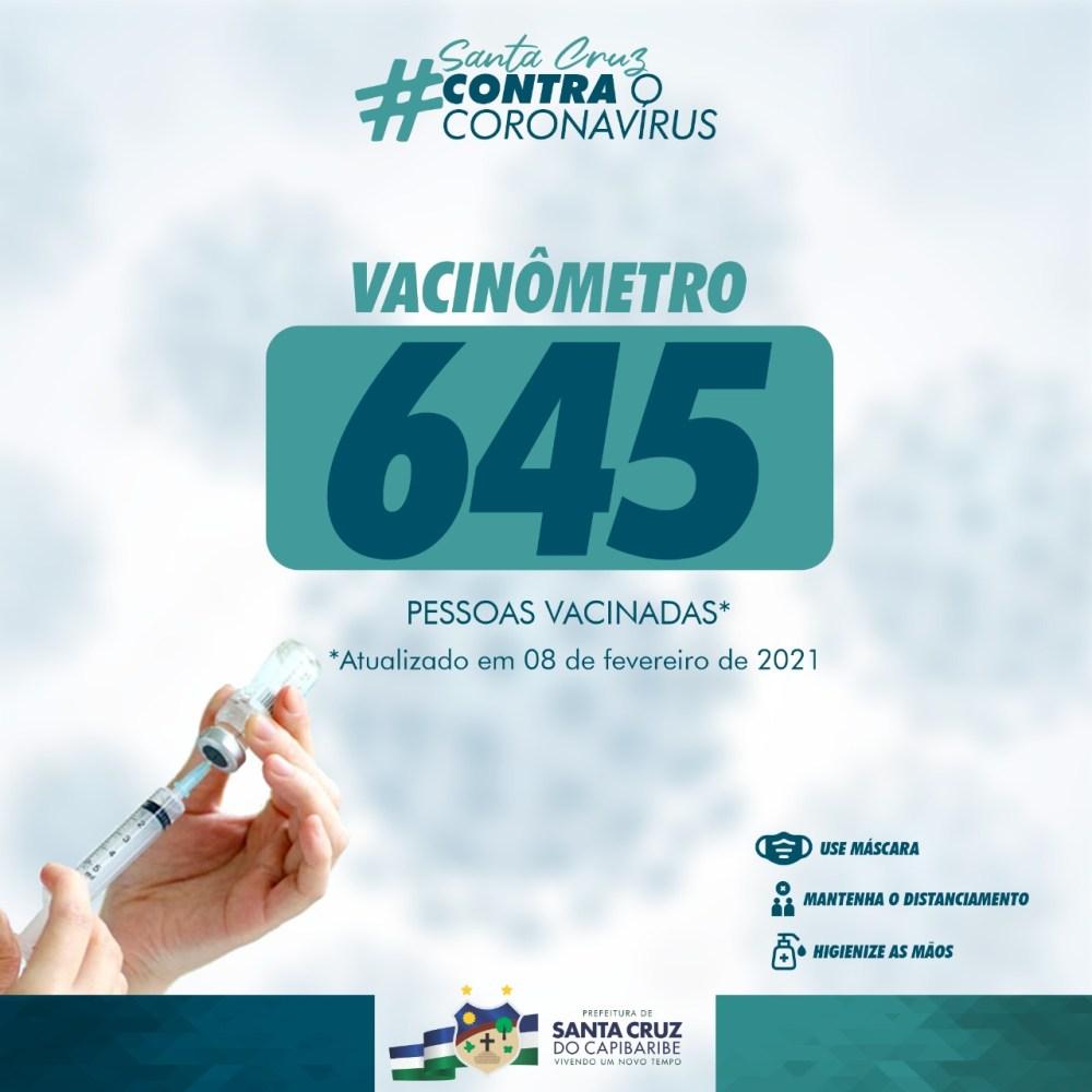 Segunda lista dos vacinados contra a Covid-19 é divulgada pela prefeitura de Santa Cruz do Capibaribe