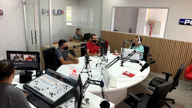 Em emissora de rádio, síndico e gerente geral falam suas expectativas para as feiras de agosto no Moda Center