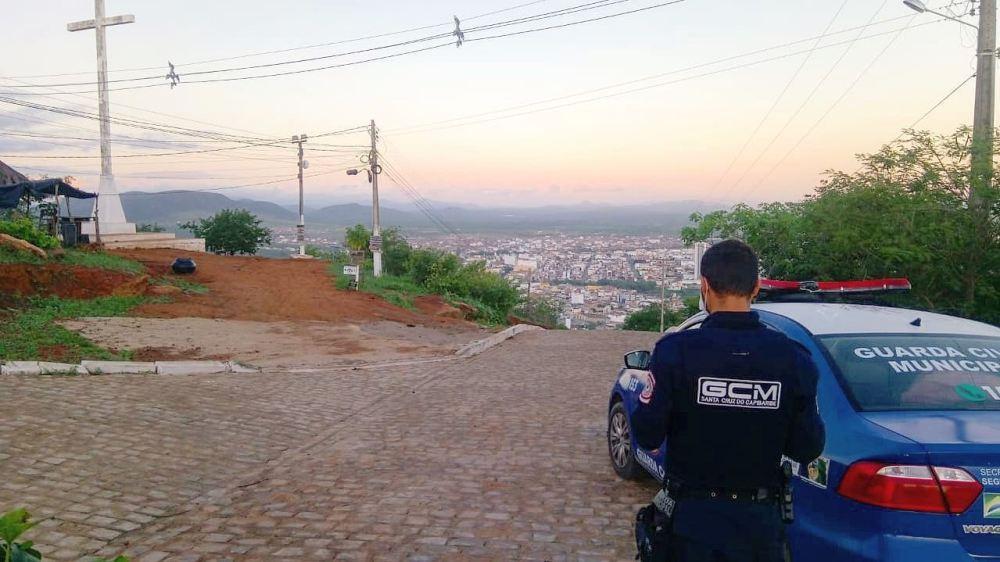 Covid-19: Guarda Civil Municipal fiscaliza o Cruzeiro de Santa Cruz do Capibaribe