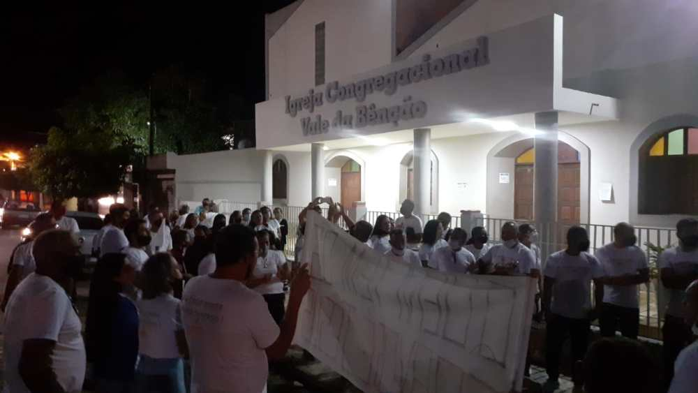 Santa Cruz do Capibaribe ‒ Membros da II Igreja Congregacional Vale da Benção voltam a realizar protesto
