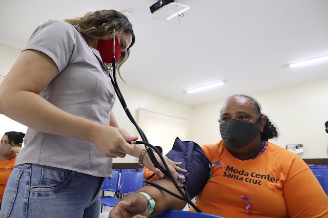 Colaboradores do Moda Center com hipertensão e diabetes participam de novo encontro do projeto Hiperdia