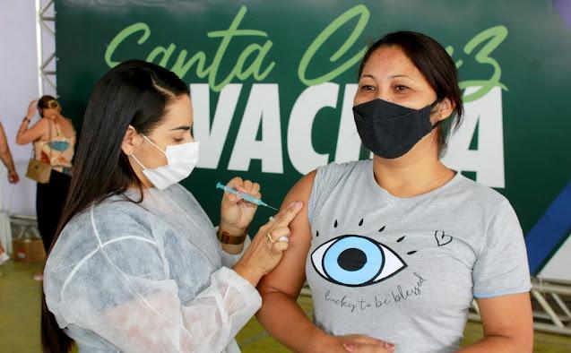 Santa Cruz amplia vacinação contra covid-19 para pessoas acima de 32 anos