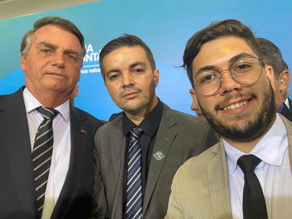 Allan Carneiro e base de vereadores oposicionistas tem encontro com Bolsonaro em Brasília