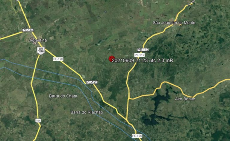 Novo tremor de terra é registrado no Agreste de Pernambuco