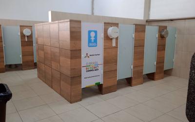 Moda Center conclui reformas em mais uma bateria de banheiros