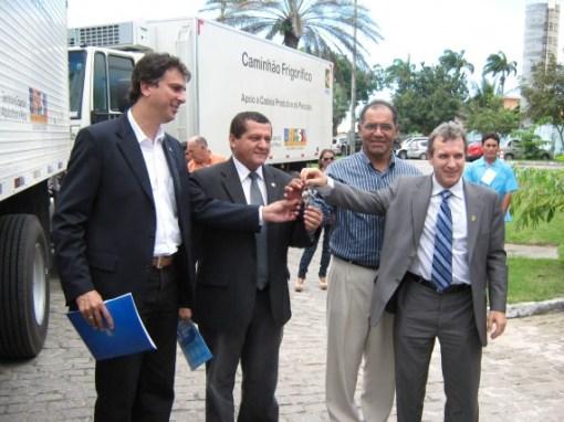 Camilo (SDA), Dedé Teixeira, Melquíades e ministro Gregolin