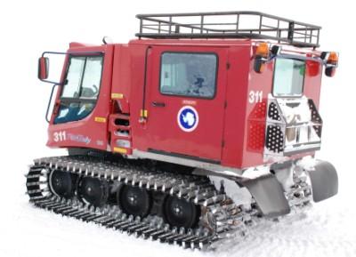 Piston Bully, este é um dos veículos mais comuns na região, é normalmente visto também em resorts de ski, fora da região Antartica