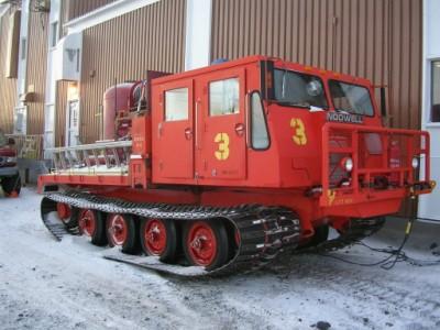 Foremost Nodwell. Sabia que existem caminhões de bombeiros na Antártica? Pois é, existem e este é um deles.