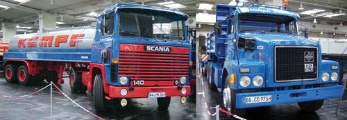 As fábricas suecas mostraram modelos bem conhecidos no Brasil, entre eles o Volvo N12 e o Scania 140. Por lá, já são peças de museu, mas aqui ainda podem ser vistos dando duro nas nossas estradas