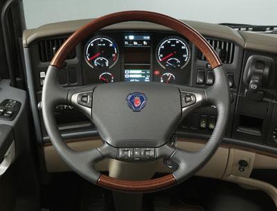 Detalhes do interior da nova série R da Scania