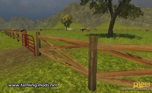 Wood-farm-fence