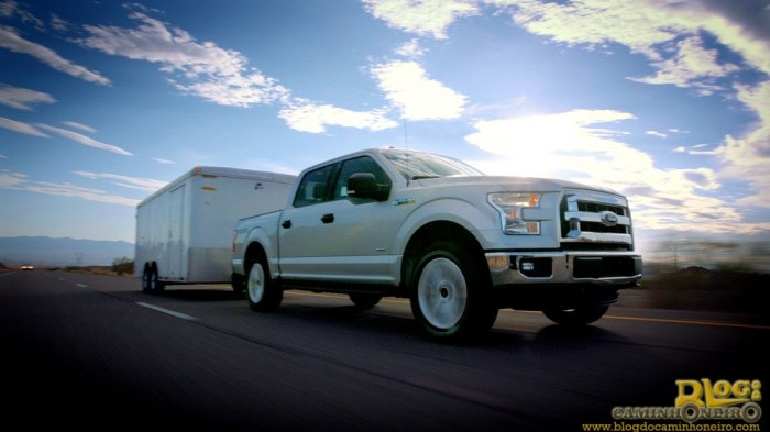 2015 Ford F-150 Tows Loaded Trailer in Extreme Heat