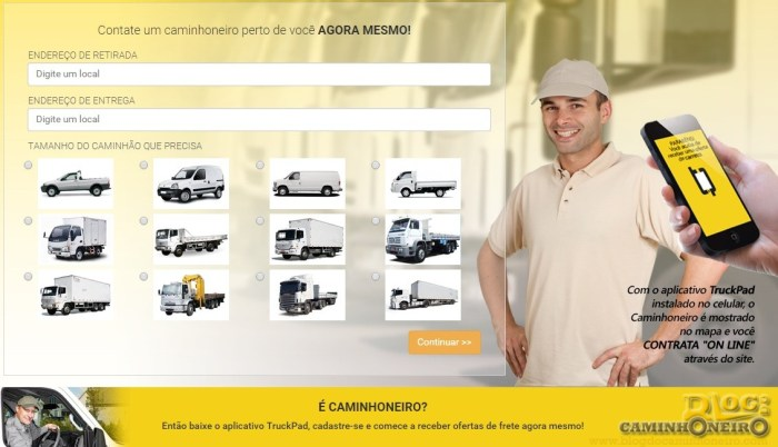 truckpad- carretos e mudancas