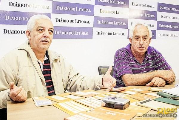 Andrade (esquerda) explica que a situação de Lorenzo (direita) pode acontecer com centenas de outros caminhoneiros e quer mais empenho do INSS sobre a questão